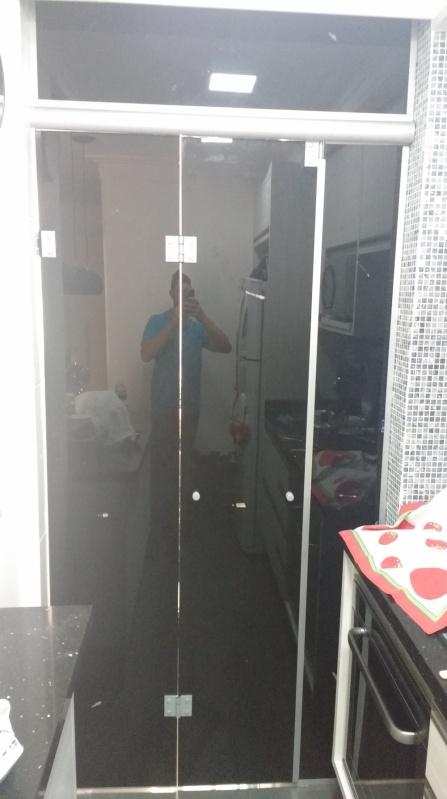 Box de Vidro até o Teto Vila Buarque - Box de Vidro Verde para Banheiro