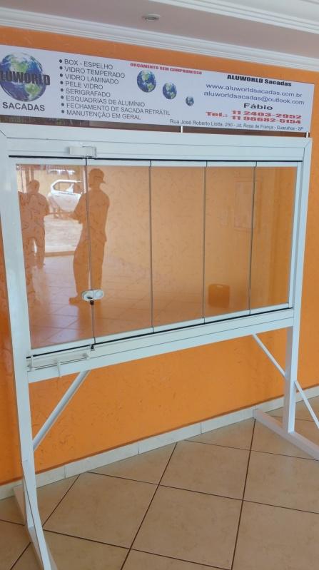 Fechamento de Sacada com Vidro Temperado Preço Taboão da Serra - Vidraçaria para Sacada