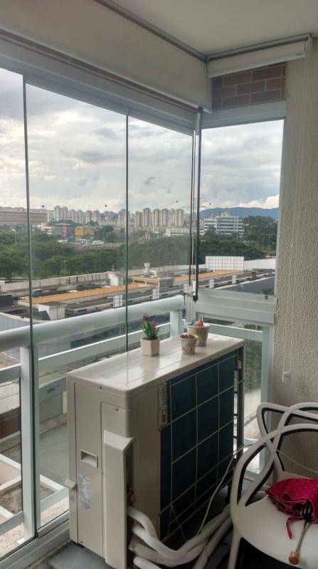 Fechamento de Sacadas com Vidro Retrátil Preço Brás - Envidraçamento de Sacada Automatizado