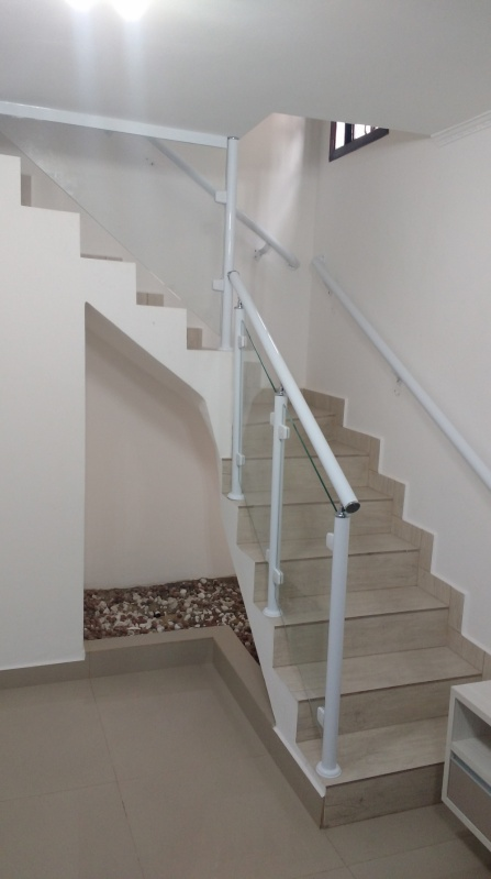 Guarda Corpo Incolor Osasco - Guarda Corpo de Vidro de Escada