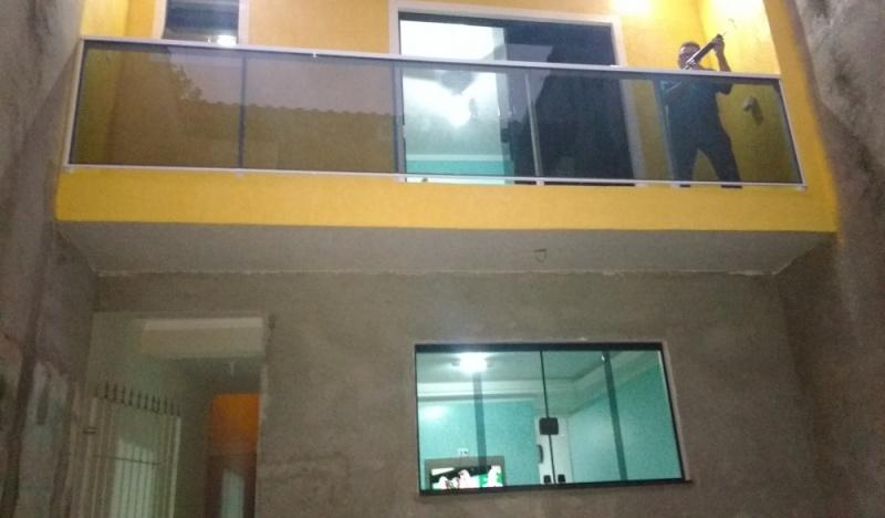 Guarda Corpo Incolor Preço Rio Grande da Serra - Guarda-Corpo de Vidro Incolor