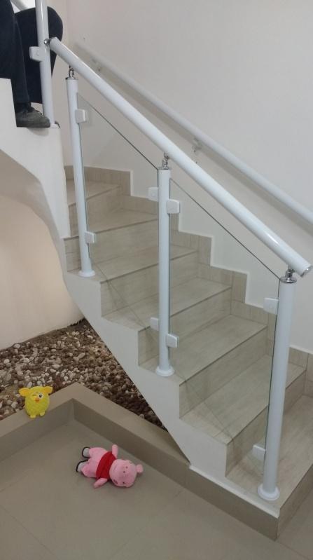 Extremamente Corrimão de Escada em Alumínio e Vidro - ALUWORLD SACADAS ZJ77