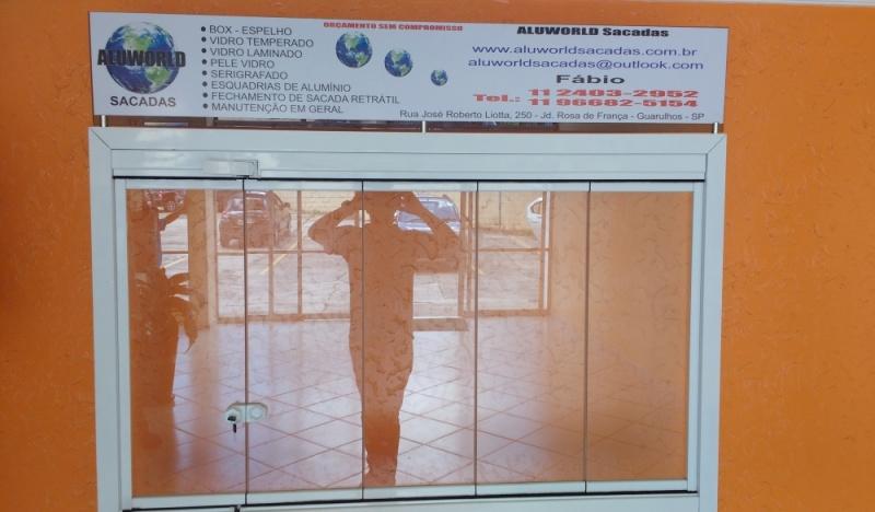 Instalação de Fechamento de Sacada com Vidro Temperado Caieiras - Fechamento de Sacada com Vidro Reflexivo