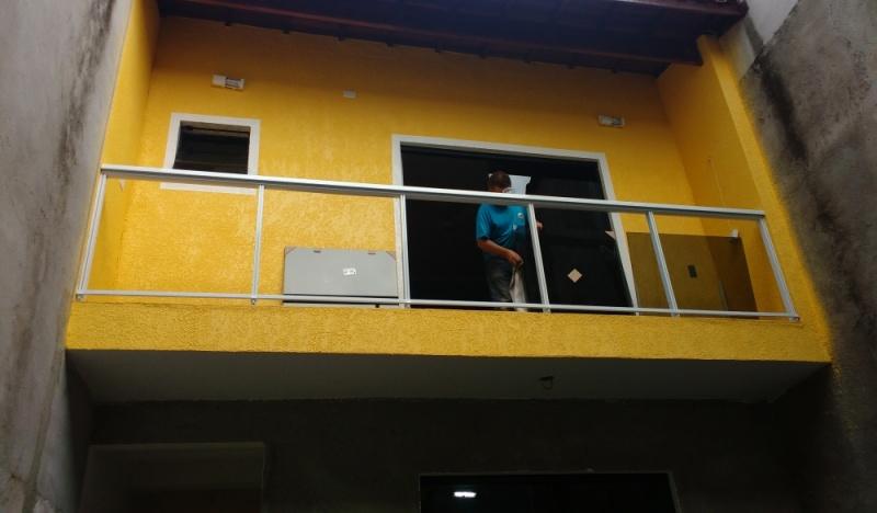 Orçamento de Corrimão de Escada em Aço Inox Luz - Corrimão de Vidro com Alumínio
