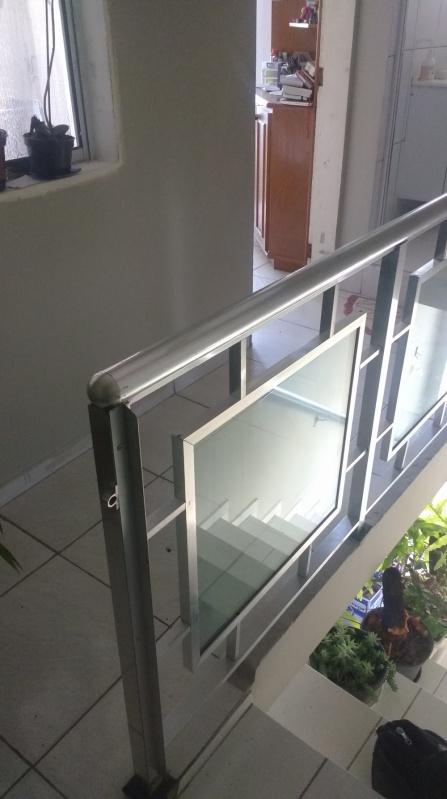 Orçamento de Guarda Corpo para Sacada Salesópolis - Guarda Corpo de Vidro na Escada
