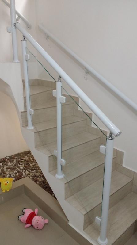 Orçamento de Instalação de Guarda Corpo de Vidro Higienópolis - Guarda Corpo de Vidro Para Escada