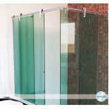 Box de vidro articulado para banheiro Aclimação