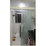 Box de vidro articulado para banheiro preço Higienópolis