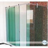 Box de vidro articulado para banheiro Santa Cecília