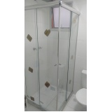 Box de vidro curvo preço Cajamar