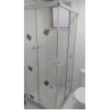Box de vidro curvo preço Santo André