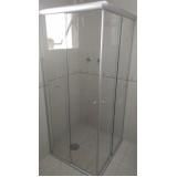 Box de vidro frontal para banheiro