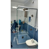 Box de Vidro Jateado para Banheiro