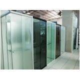 Box para banheiro vidro temperado menor preço em Santa Cecília