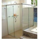 Box para banheiro vidro temperado onde encontrar em Santa Cecília
