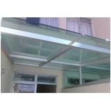 Cobertura de vidro fixa onde comprar em Mairiporã