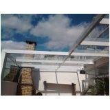 Cobertura fixa de vidro preço acessível em Santa Isabel