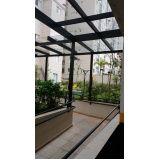 Cobertura retrátil de vidro preço acessível no Centro