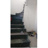 corrimão de escada caracol Bela Vista
