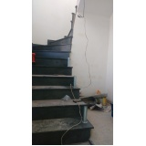corrimão de escada caracol Mogi das Cruzes