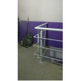corrimão de escada com vidro Brás