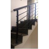 corrimão de escada de alumínio Caierias