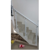 corrimão de escada de alumínio e vidro ARUJÁ