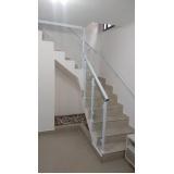 corrimão de escada de alumínio e vidro preço Brás
