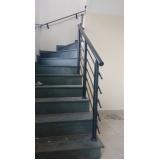 corrimão de escada de alumínio preço Caierias