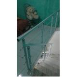 corrimão de escada de vidro preço Brás