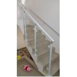 corrimão de escada em aço escovado ABC