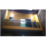 corrimão de escada em vidro temperado ABC