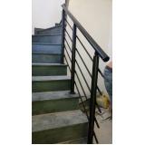 corrimão de escada externa Embu
