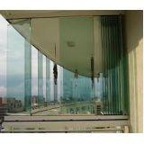 Envidraçar sacada com vidro temperado preço no Bixiga