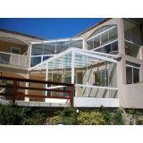 Fechamento da varanda com vidro menor preço ARUJÁ