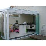 Fechamento da varanda com vidro menor preço Embu