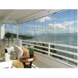 Fechamento da varanda com vidro quanto custa em Embu das Artes