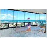 Fechamento da varanda com vidro valor Caierias