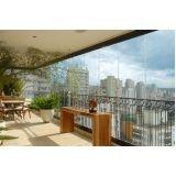Fechamento da varanda com vidro valor em Higienópolis