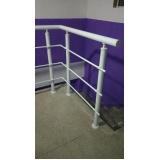 instalação de corrimão de escada com vidro ABC