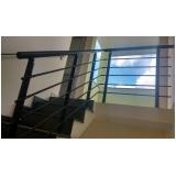 instalação de corrimão de escada de alumínio Bixiga