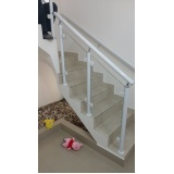 instalação de corrimão de escada de alumínio e vidro Santo André