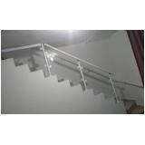 instalação de corrimão de escada de vidro ABCD