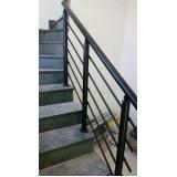 instalação de corrimão de escada externa Santa Efigênia