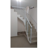 orçamento de corrimão de escada de alumínio e vidro Cotia