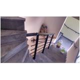 orçamento de corrimão de escada de alumínio Poá