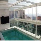 Preço acessível sacada de vidro em Salesópolis